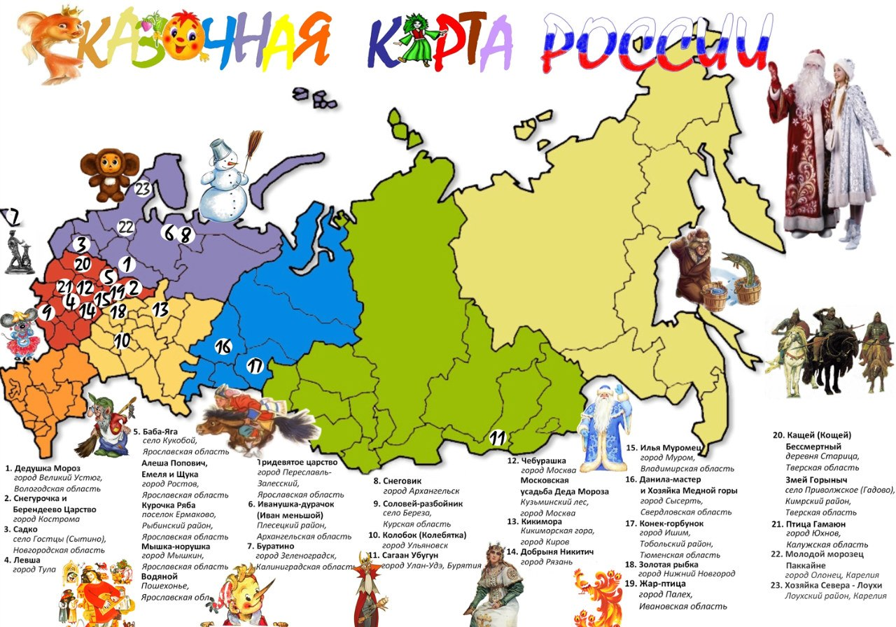 Fairy-tale Map of Russia